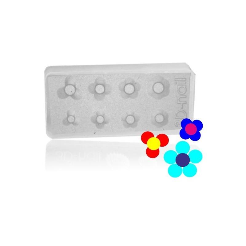 3D formy na nechty - kvet nr.2