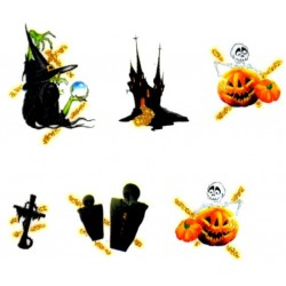 Halloween nálepky na nechty Kategórie