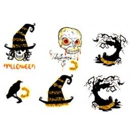 Halloween nálepky na nechty