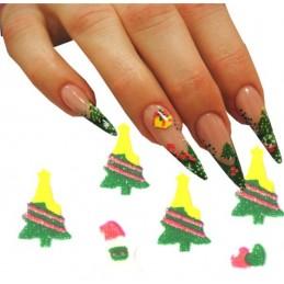 Vianočné 3D nálepky na nechty