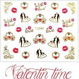 Valentínske nálepky Prestige