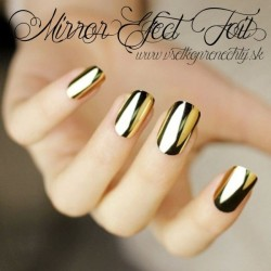 Mirror efect nail foil gold CN nails ONE TOUCH FOIL