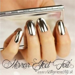 Mirror efect nail foil silver ONE TOUCH FOIL