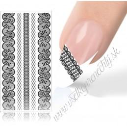 Big Luxury nail sticker Čipky - nálepky