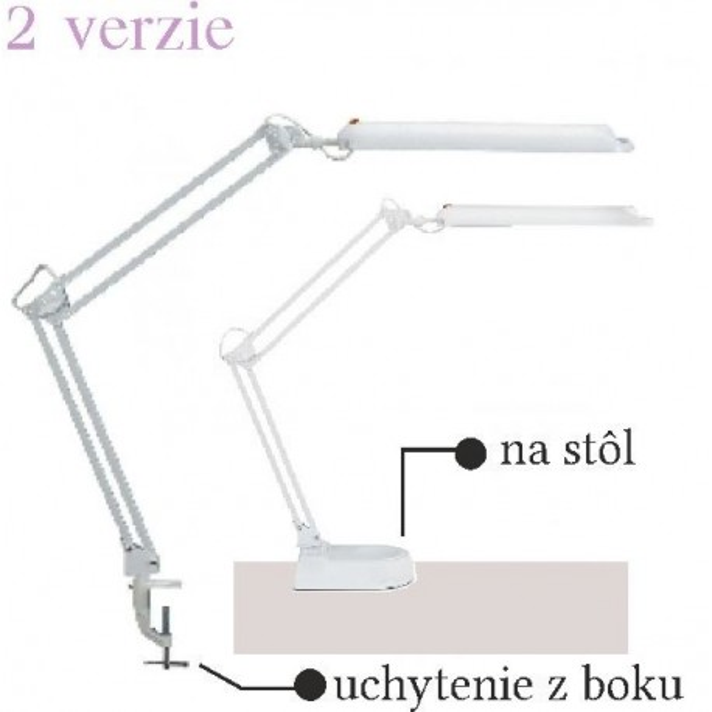 Kozmetická lampa biela Lampy na manikúrny stolík