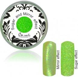 NR.12 Sugar and Mirror efect neon green Sugar and Mirror efect