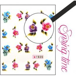 Vodolepky na nechty Spring time Vodové nálepky Kvety