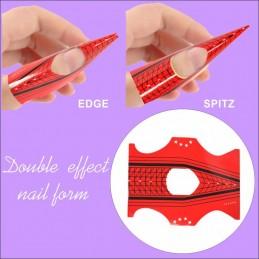 Double efect Nail Form 50ks Formy na Nail Art akrylom