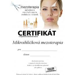 Školenie na mikroihličkovú mezoterapiu Mezoterapia - mikroihličková