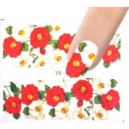 YB 321 Flowers design Vodové nálepky - Flowers