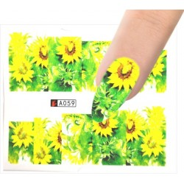 A059 Flowers design Vodové nálepky - Flowers