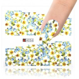 A056 Flowers design Vodové nálepky - Flowers