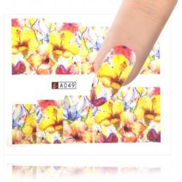 A049 Flowers design Vodové nálepky - Flowers