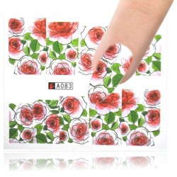A083 Flowers design Vodové nálepky - Flowers