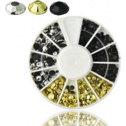 NR.16 Kamienky na nechty v karusely Karusel s ozdobami