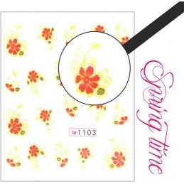 NR.1103 Vodolepky Spring time Vodové nálepky Kvety