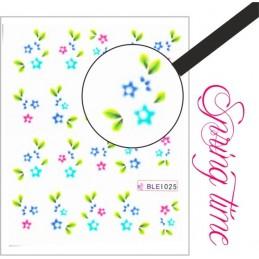 NR.1025 Vodolepky Spring time Vodové nálepky Kvety