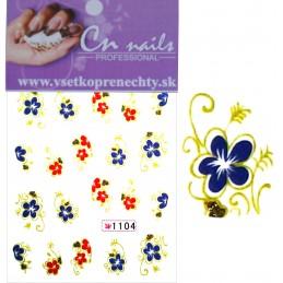 NR.1104 Vodolepky Spring time Vodové nálepky Kvety