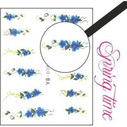 NR.038 Vodolepky Spring time Vodové nálepky Kvety