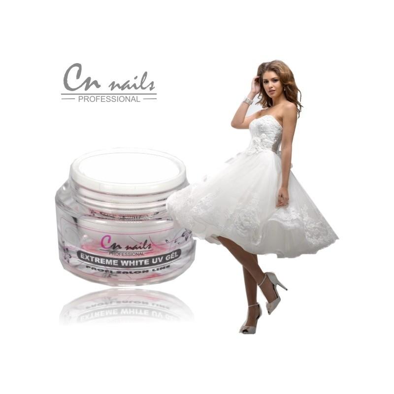 Biely UV gel - Snow white 30 ml CN nails Biele gely na NECHTY