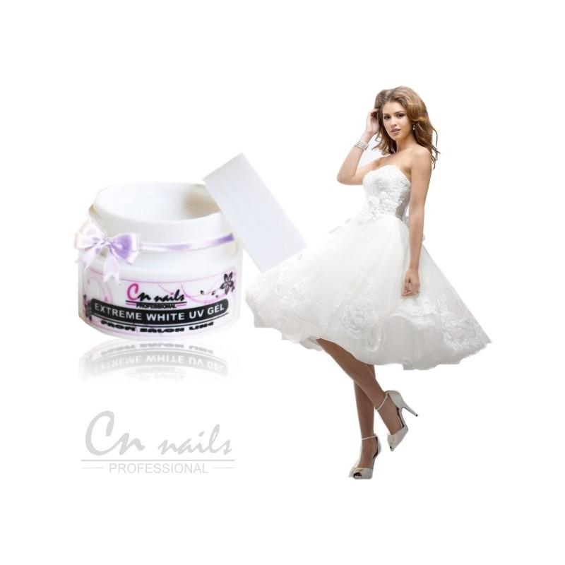 Biely gel Snow White 5ml CN nails Biele gely na NECHTY