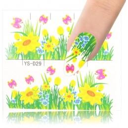 1881 Flowers design Vodové nálepky - Flowers