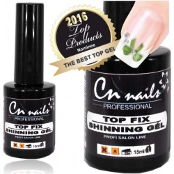 Top fix shining uv gel 15ml CN nails Ukončovacie, vrchné gély