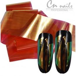 NR.1 Glass effect - nail art fólia Nail foil - efekt skla