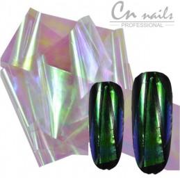 NR.3 Glass effect - nail art fólia Nail foil - efekt skla