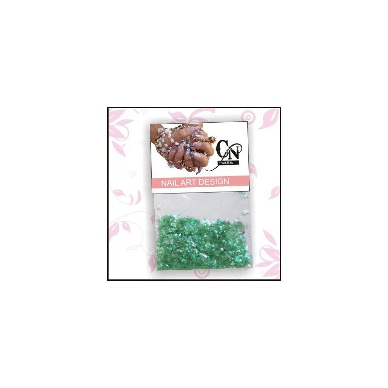 Fóliové úlomky - zelené