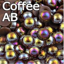 Perličky Coffe AB - 3mm 50ks Perličky, perlové kamienky