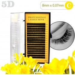 5D lashes 100% NORK 8mm 5D mihalnice Tip C