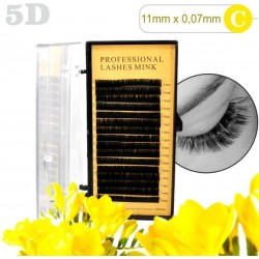 5D lashes 100% NORK 11mm 5D mihalnice Tip C