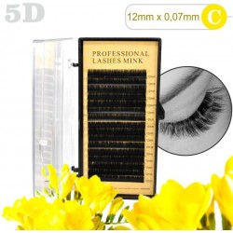 5D lashes 100% NORK 12mm 5D mihalnice Tip C