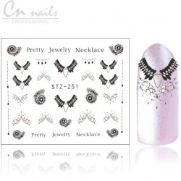 NR.251 Pretty nálepky na nechty Čipky - nálepky