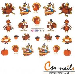 NR. BN372 Vodolepky Jeseň Nálepky Jeseň