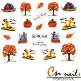 NR. BN367 Vodolepky Jeseň Nálepky Jeseň