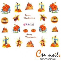 NR. BN362 Vodolepky Jeseň Nálepky Jeseň