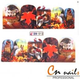 NR. BN512 Vodolepky Jeseň Nálepky Jeseň