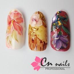 Botanika nail art zdobenia kvetov Školenia na nechty