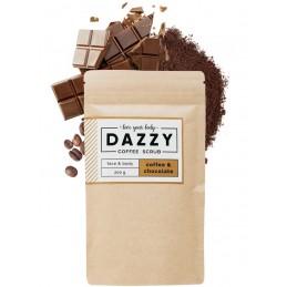 Kávovy peeling Dazzy Coffee Scrub 200g Čokoláda