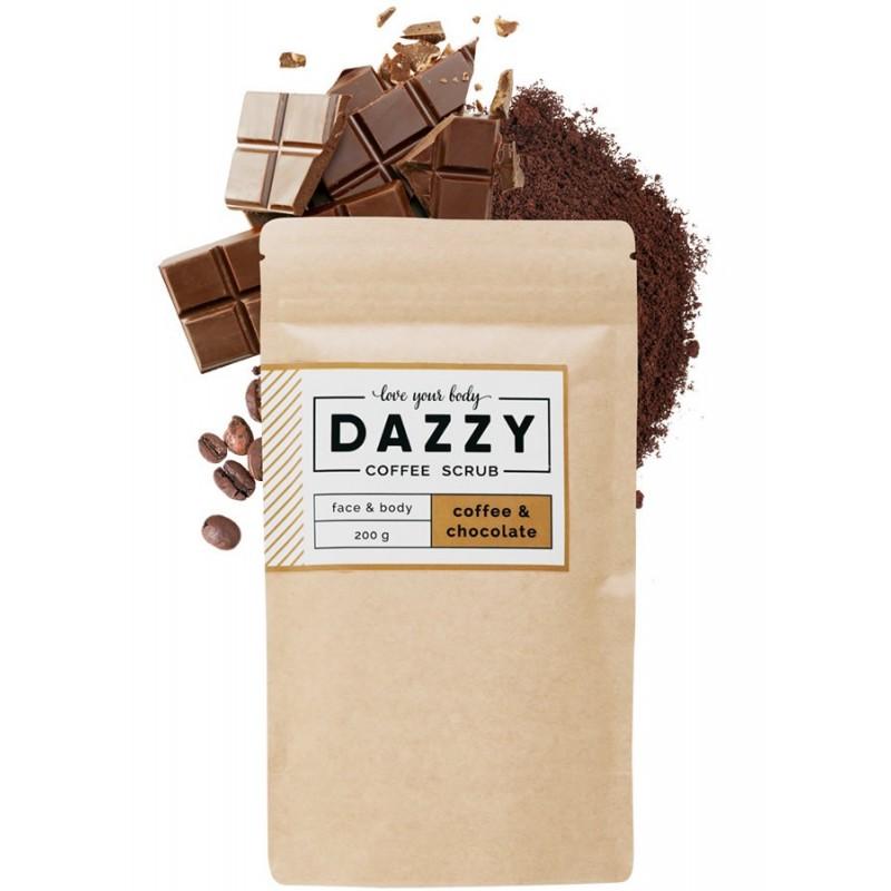 Kávovy peeling Dazzy Coffee Scrub 200g Čokoláda Dazzy Kávovy peeling