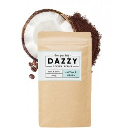 Kávovy peeling Dazzy Coffee Scrub 50g Kokos Dazzy Kávovy peeling