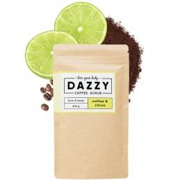 Kávovy peeling Dazzy Coffee Scrub 50g Citrus