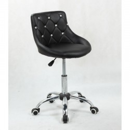 Kozmetická stolička Elegance Black Kozmetické stoličky