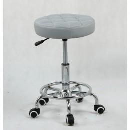 Kozmetická stolička Amia Silver Kozmetické stoličky
