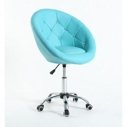 Kreslo Elegance tyrkys Krystal Kreslá, stoličky