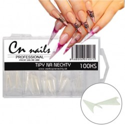 Triangle stiletto tipy - clear