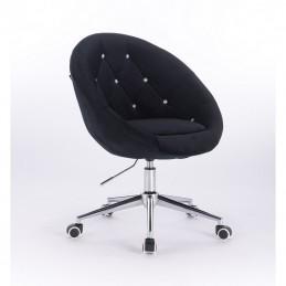 Kreslo Elegance Velur Black Kreslá, stoličky