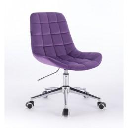 Kozmetická stolička Pretty Velur Violet Kozmetické stoličky